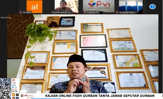 "LAZ Panti Yatim Indonesia Menggelar Kajian Online Bertajuk ""Tanya Jawab Seputar Qurban"""