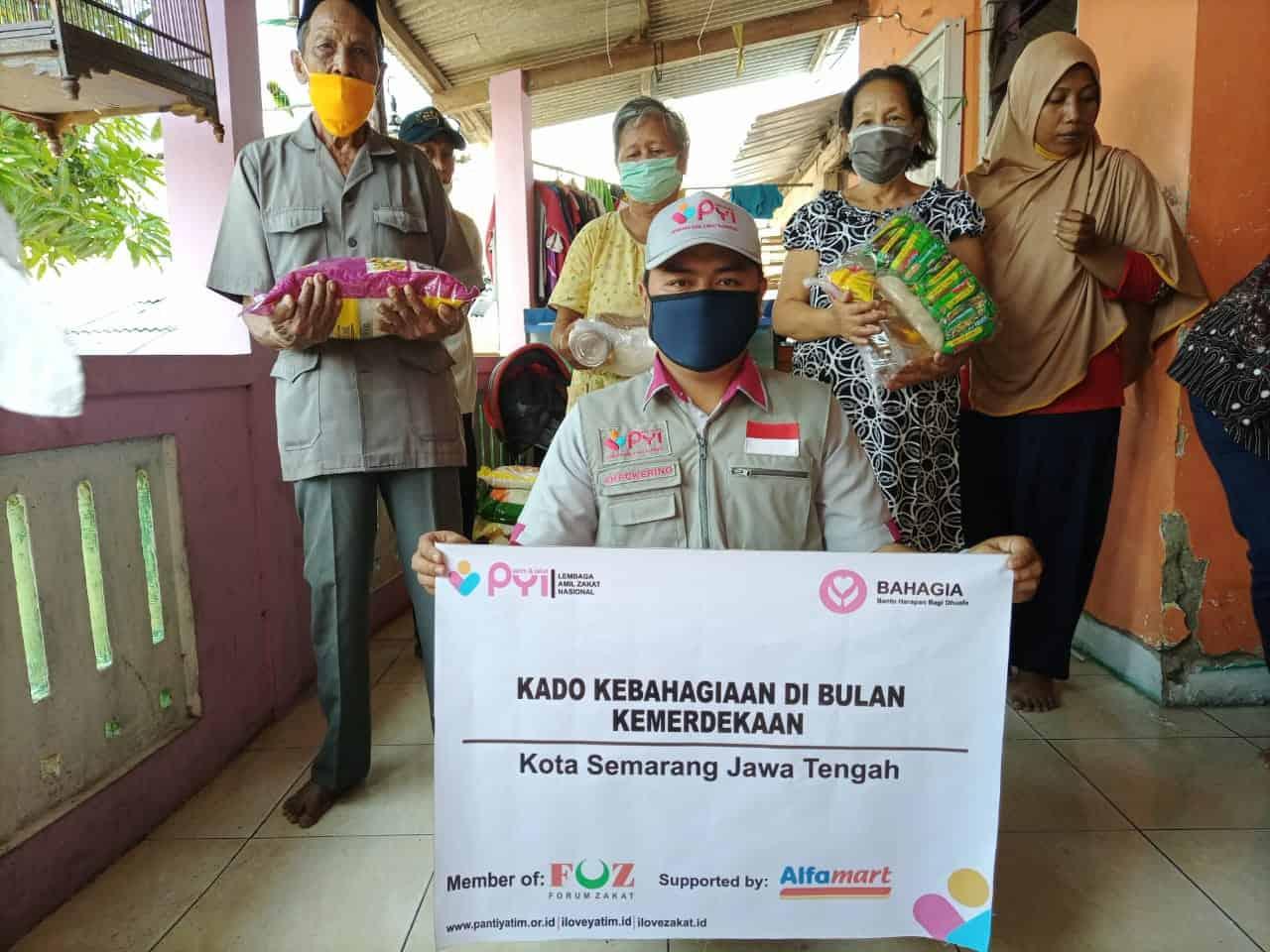 LAZ Panti Yatim Salurkan Kado Kebahagiaan Dibulan Kemerdekaan Di Kota Semarang