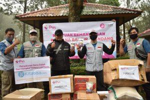 Simbolis bantuan Sembako Puncak, Kab. Bogor