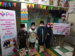 Penyaluran bantuan di Paud As-syuhada Kabupaten Serang Banten