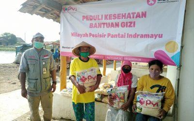 PYI Salurkan Bantuan Gizi dan Paket Sembako Hingga Pesisir Pantai Indramayu